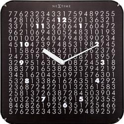 Zegar kwadratowy na ścianę Labyrinth Nextime 35 x 35 cm 3244