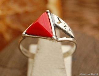 CARLO - srebrny pierścionek z koralem