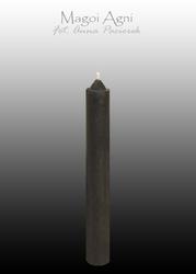 Czarna świeca z wosku 9x1,2cm 5 sztuk