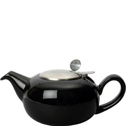 Czarny dzbanek do herbaty z filtrem 1,1 Litra Pebble London Pottery LP-17284112