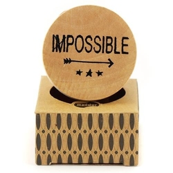 Drewniany stempel Pop Stamp - Impossible - 007