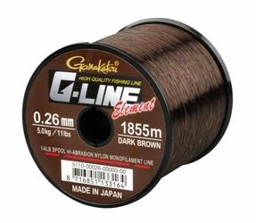 Żyłka G-Line Element Dark Brown 0,26mm 5,0kg 1855m spool