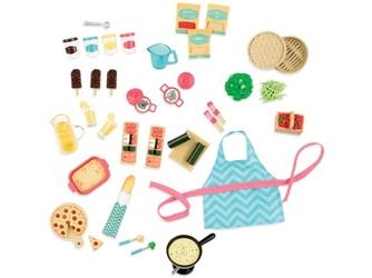 URZĄDZAMY PRZYJĘCIE duży zestaw akcesoriów dla lalek Gourmet Market