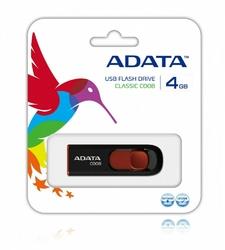 Adata DashDrive Classic C008 4GB USB2.0 czarno-czerwone