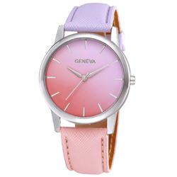 Zegarek damski ombre GENEVA lila róż - purple pink