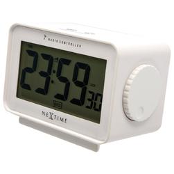 Zegar biały Easy Alarm Radio Controlled Nextime