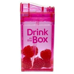 Bidon ze słomką Drink In The Box różowy, 235 ml