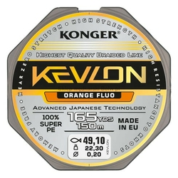 Plecionka Konger Kevlon Orange Fluo X4 0,16mm 150m 15,90kg