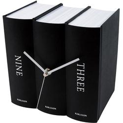 Zegar stołowy Book Karlsson czarny KA4283
