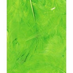 Dekoracyjne piórka puchate 3 g - zielone jasne - ZIELJAS