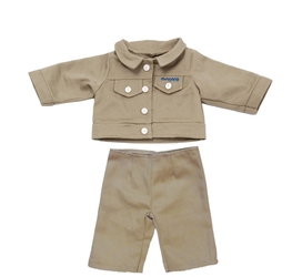 Ubranka dla lalki - Jesienna kurteczka ze spodenkami
