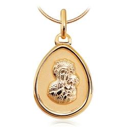 medalik maryjny matowany złoto  58514k