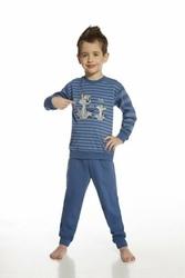 Cornette 96643 daddy and me young paski jeans piżama chłopięca