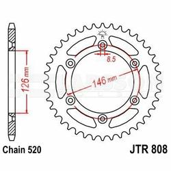 Zębatka tylna stalowa JT 808-48, 48Z, rozmiar 520 2301347 Suzuki DR-Z 400