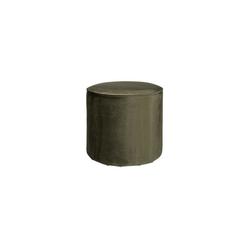 Woood :: Wysoki puf SARA oliwkowy - ciepła zieleń