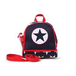 Plecak dla malucha z kieszenią na drugie śniadnie - granatowa w gwiazdy Penny Scallan