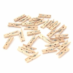 Drewniane klamerki do rękodzieła 25 mm26 szt. - naturalny - naturalny