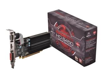 XFX Karta graficzna Radeon HD 6450 1GB DDR3 64-BIT Silent Low Profile HDMI DVI VGA Box