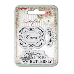 Ozdobne stemple Butterflies - 002 - 002