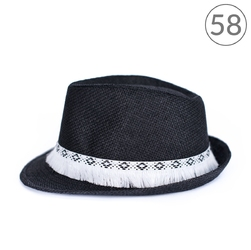 Kapelusz miotełka czarny 58 - czarny 58