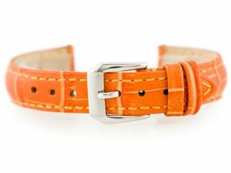 Pasek skórzany do zegarka W64 - pomarańczowy 14mm