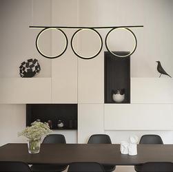Altavola Design :: Altavola Design:Lampa wisząca Ledowe Okręgi No. 8 czarny - czarny