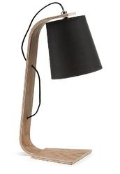 Lampa biurkowa MERCY czarna - czarny || drewniany