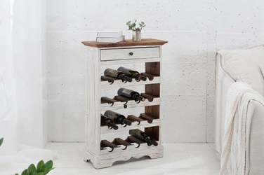 Interior Space :: Stojak na wino La Fleur biały mahoń