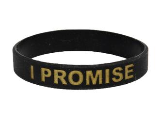 Opaska silikonowa I PROMISE - Czarno złota