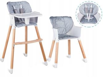 Lionelo Koen szare Drewniane Krzesełko do karmienia 2w1 + Drewniane Puzzle