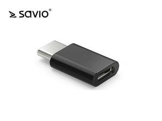 Elmak Adapter SAVIO AK-31 Micro USB F - USB 3.1 Typ C M