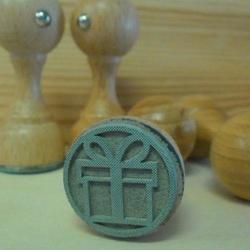 Stempel gumowy 25 mm - prezent - PRT