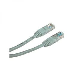 UTP patchcord UTP patchcord, Cat.5e, RJ45 M-10m, nieekranowany, szary, Logo, blistr