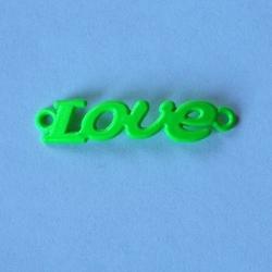 LOVE zawieszkałącznik - zielony neon - ZIELNEO