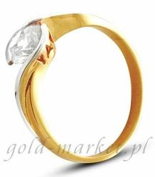Pierścionek z żółtego złota AGP12G