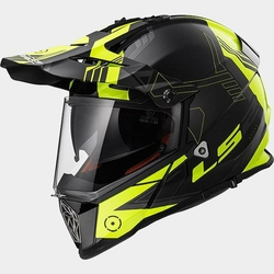 KASK LS2 MX436 PIONEER BLACK-HI VIS-YELLOW