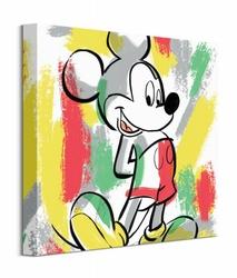 Mickey Mouse Paint Stripes - obraz na płótnie