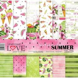 Papier do scrapbookingu 30x30cm Watermelon Summer - zestaw