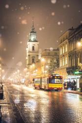 Warszawa Krakowskie Przedmieście - plakat premium Wymiar do wyboru: 70x100 cm