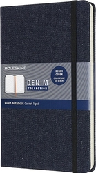 Notes Moleskine L Denim w linię prussian blue