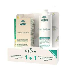 NUXE Aroma-Perfection emulsja przeciw niedoskonałościom 40ml + żel dogłębnie oczyszczający 200ml