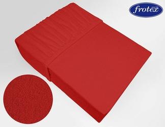 Prześcieradło frotte z gumką Frotex czerwone 030 - czerwony
