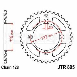 Zębatka tylna stalowa JT 895-46, 46Z, rozmiar 428 2301068 KTM SX 85