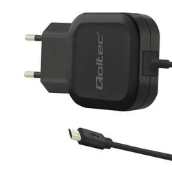 Qoltec Ładowarka sieciowa | 12W | 5V | 2.4A | USB + kabel Micro USB