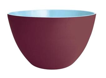 Dwukolorowa salaterka kasztanowo-niebieska 22 cm Zak Designs
