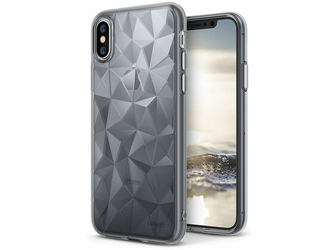 Etui Ringke Air Prism Apple iPhone XXs Smoke Black + 3xSzkło Ringke ID - Czarny