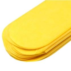 Papierowy pompon 15 cm - żółty - ŻÓŁ