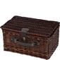 Mały kosz piknikowy wiklinowy z wyposażeniem dla 2 osób Cilio Bellano CI-155921