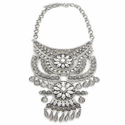 Kolia dekoracyjna srebrna I - SILVER