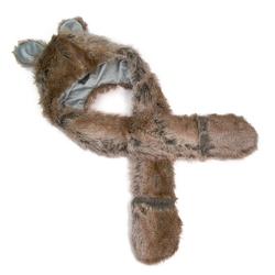 Czapka rękawiczki bear brown